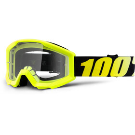 100% Strata Anti Fog Clear Gogle Dzieci, neon yellow